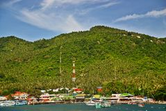 De groene Pijler van het Eiland in Thailand Royalty-vrije Stock Fotografie