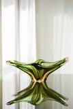 De groene Plaat van het Glas Murano Stock Fotografie