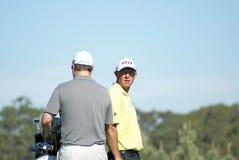 De Groene Professionele Golfspeler van Nathan Stock Foto