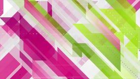 De groene purpere geometrische minimale videoanimatie van technologie vector illustratie