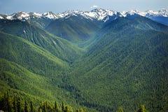 De groene Rand van de Orkaan van de Bergen van de Sneeuw van Valleien royalty-vrije stock foto