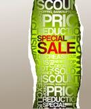 De groene reclame van de verkoopkorting Stock Foto's