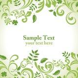 De groene reeks van de bladbanner Royalty-vrije Stock Afbeelding