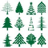 De groene reeks van de Kerstboom Royalty-vrije Stock Foto