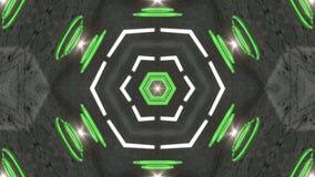 De groene roterende abstracte achtergrond verandert van vorm royalty-vrije illustratie