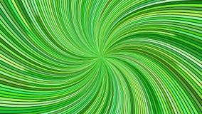 De groene roterende psychedelische wervelende straal barstte strepen - naadloze lijn stock video