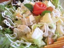De Groene Salade van de kip Royalty-vrije Stock Foto