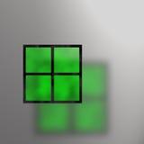 De groene Samenvatting van het Gebrandschilderd glas Stock Foto's