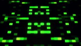 De groene sc.i-FI Kunstmatige intelligentieai Achtergrond van Vierkantenloopable royalty-vrije illustratie