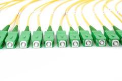 De groene schakelaars van vezel optische Sc Royalty-vrije Stock Afbeeldingen