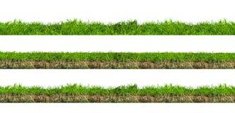De groene Secties van het Gras royalty-vrije stock fotografie