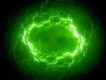 De groene sferische bliksem van het hoge energieplasma in ruimte royalty-vrije illustratie