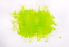 De groene slagen van de verfborstel Stock Foto's