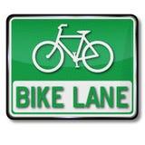 De groene steeg van de verkeerstekenfiets stock illustratie
