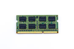 De groene stok van Ddr RAM op geïsoleerde achtergrond Royalty-vrije Stock Afbeelding