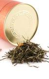 De groene thee doorbladert met jasmijn royalty-vrije stock afbeeldingen