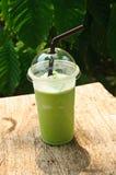 De groene thee van de Smoothiesmelk Stock Foto's