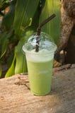 De groene thee van de Smoothiesmelk Stock Afbeeldingen