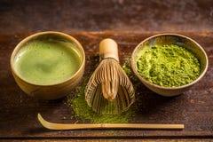 De Groene Thee van Matcha stock foto's