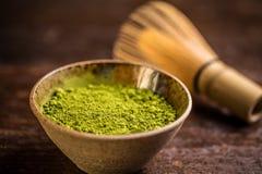 De Groene Thee van Matcha stock afbeeldingen