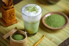 De groene thee van Matcha latte stock fotografie