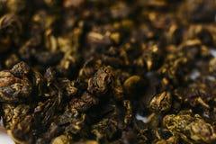 De groene thee van uitstekende kwaliteit, macro Royalty-vrije Stock Foto's