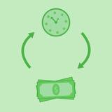 De groene tijd is geld royalty-vrije illustratie