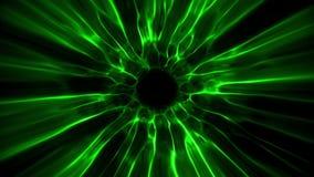 De groene Tunnel Intro Logo Loop Background van de Zwart Gatenenergie stock illustratie