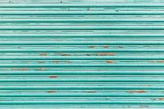 De groene uitstekende blinde textuur van het latvenster Royalty-vrije Stock Afbeelding