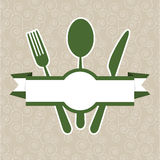 De groene uitstekende dekking van het restaurantmenu Stock Fotografie