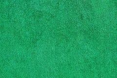 De groene van de katoenen achtergrond handdoek dichte omhooggaande textuur Royalty-vrije Stock Afbeeldingen