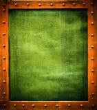 Groen metaalmalplaatje Royalty-vrije Stock Afbeeldingen