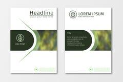 De groene vector van het het ontwerpmalplaatje jaarverslag van de bedrijfsbrochurevlieger Royalty-vrije Stock Fotografie