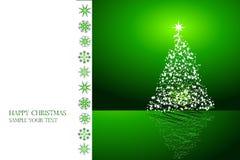 De groene vector van Kerstmis van het kaartontwerp Royalty-vrije Stock Afbeelding