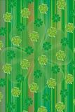 De groene vectorachtergrond van het klaverblad Stock Afbeelding