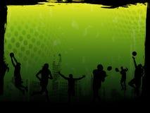 De groene VectorAchtergrond van Sporten Stock Afbeeldingen