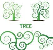 De groene vectorinstallatie van de boomillustratie Royalty-vrije Stock Fotografie