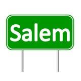 De groene verkeersteken van Salem royalty-vrije illustratie