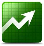 De groene vierkante knoop van het bedrijfsgrafiekpictogram Royalty-vrije Stock Fotografie