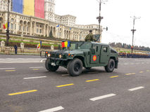 De groene voertuigen van het blindagegevecht Stock Foto's