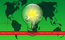 De groene Wereld van de Energie royalty-vrije illustratie