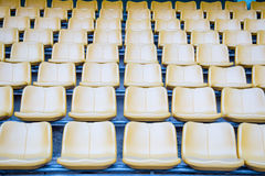 De groene zetels van het stadion Royalty-vrije Stock Fotografie