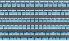 De groene zetels van het stadion Stock Foto's