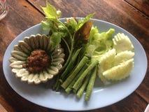 De groente ‹van Namprikkapi with†op the†‹wooden†‹background†‹ stock foto's