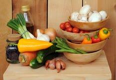De groente beweegt gebraden gerecht Stock Fotografie