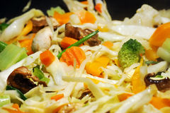 De groente beweegt gebraden gerecht Stock Foto's