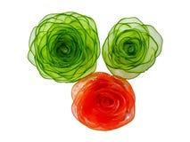 De groente is gesneden in vorm van bloemen Stock Afbeeldingen