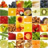 De groentecollage van vruchten Stock Afbeeldingen