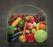 De groenten en de vruchten van de voedselfoto Stock Foto's