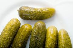 De groenten in het zuur van de augurk stock fotografie